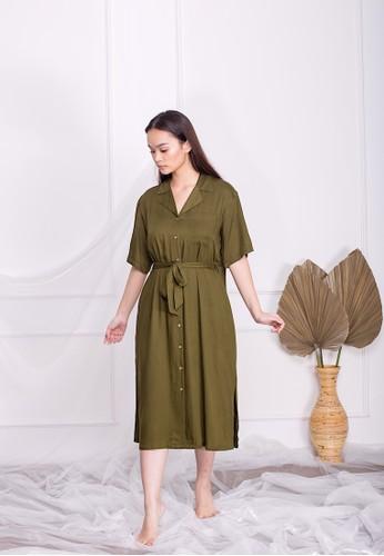 Simplify green Lexi Dress Olive 5B0E4AA64AC966GS_1