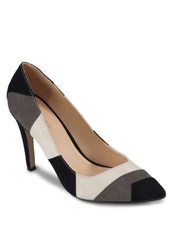撞色拼接尖頭高跟鞋zalora 手錶 評價, 女鞋, 厚底高跟鞋