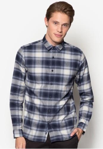 格紋長袖襯衫, esprit 品牌服飾, 服飾