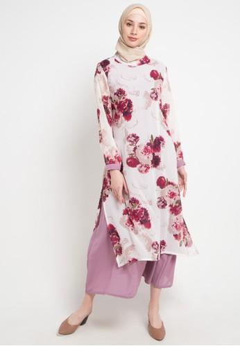 Aira Muslim Butik purple and multi Kamilia Dress 09FAAAA039B09BGS_1
