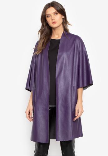 N Natori purple Leather Topper C6560AA399DFB8GS_1