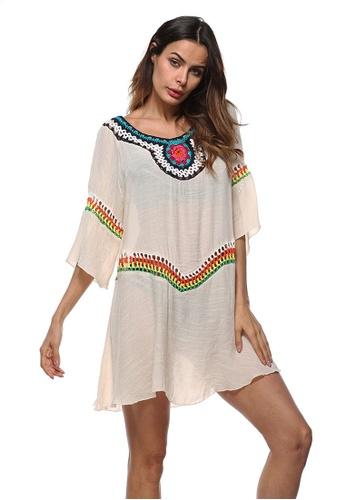 LYCKA beige LTH4027-European Style Beach Casual Outer Dress-Beige 92DA3US8FB592CGS_1