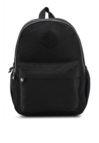 Bagstationz black Mds Crinkled Nylon Fabric Small Backpack F89E5AC57EA9DEGS_1