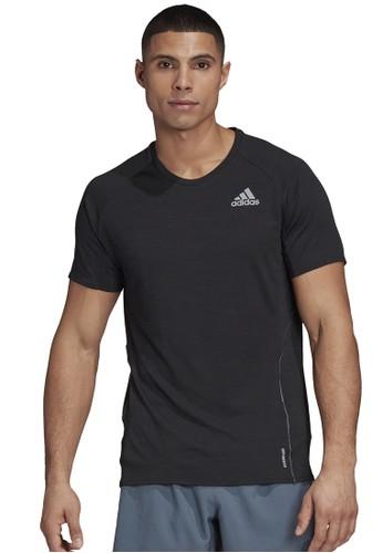 ADIDAS black men runner tee E45E1AA697C6D8GS_1