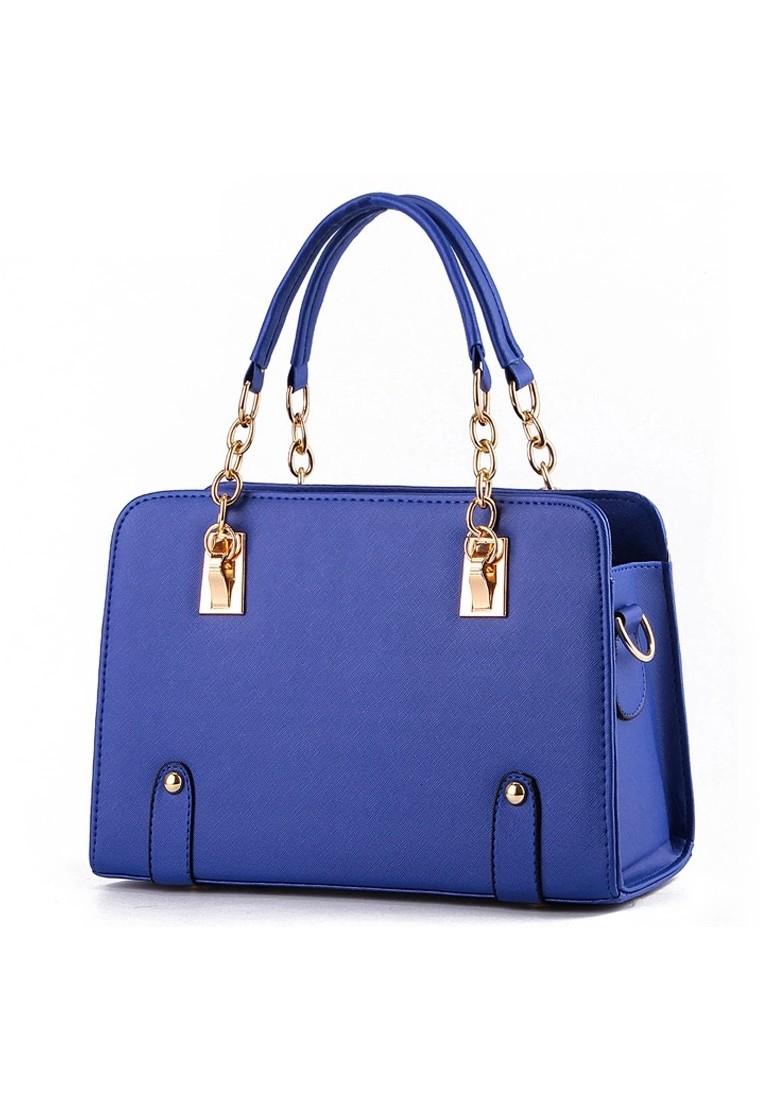 KL16010 Korean Style Handbag with Chain Link Handle Design