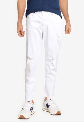Only & Sons white Avi Beam Life Crop Jeans C6FA7AAEB843CBGS_1