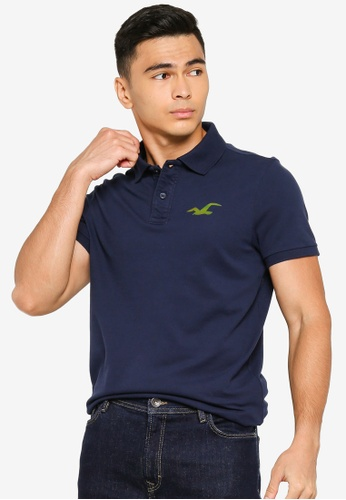 Hollister navy Core Exploded Icon Polo Shirt B05F4AA08AAFE8GS_1