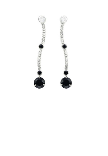 Glamorousky black Simple Earrings with Black and Silver Austrian Element Crystals EC3D1ACF24D814GS_1