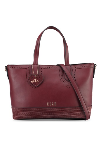 ELLE red Romantic Tote Bag D60BDAC031CE3BGS_1