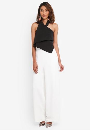 Lavish Alice black and white Monochrome Halterneck Wide Leg Jumpsuit LA457AA0SSRCMY_1