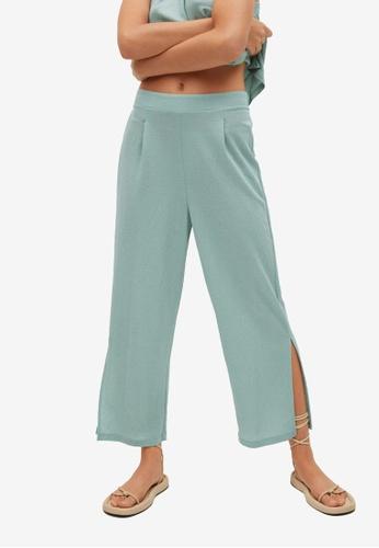 Mango 綠色 Cut-Out Culotte Trousers 3D094AA8EE31B1GS_1
