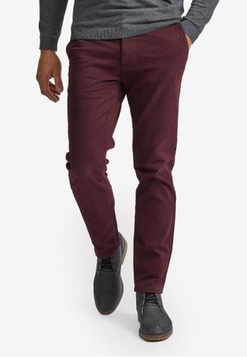 Burton Menswear London red Burgundy Slim Chino Trousers DD881AA774E0BEGS_1