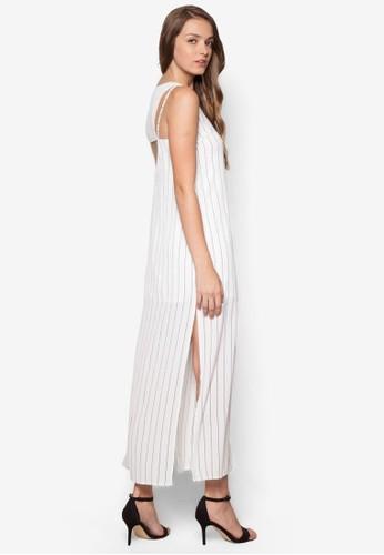 背部esprit台灣outlet鏤空直筒連身長裙, 服飾, 洋裝