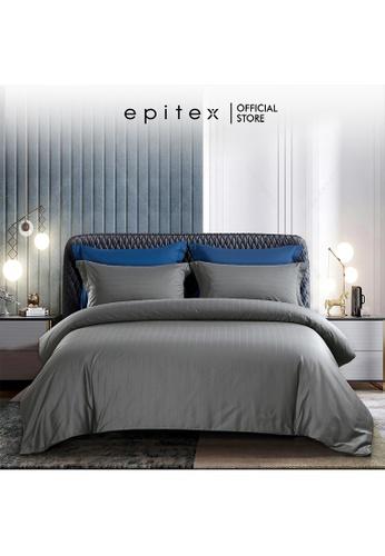 Epitex grey Epitex Supima Cotton 1200TC Bedsheet - Quilt Cover Set - w quilt cover (Charcoal) 5B8A7HL5890BB4GS_1