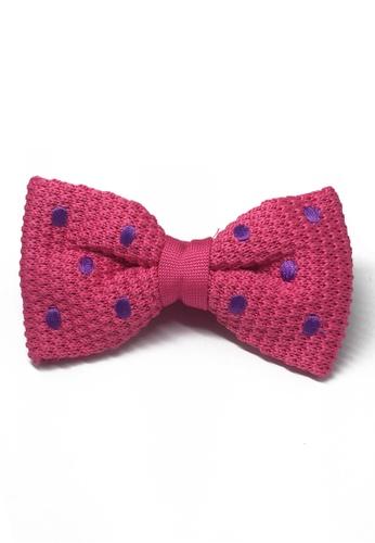 Splice Cufflinks pink Webbed Series Purple Polka Dots Bright Pink Knitted Bow Tie SP744AC13UAKSG_1