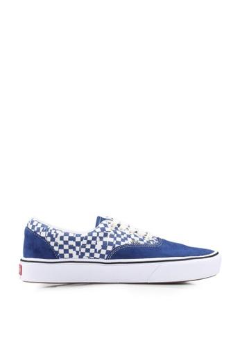 VANS blue ComfyCush Era Tear Check Sneakers D722DSH3168FE5GS_1