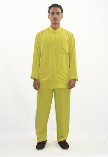 Denai Boutique green Baju Melayu Atta F2C52AAB39DBA7GS_1