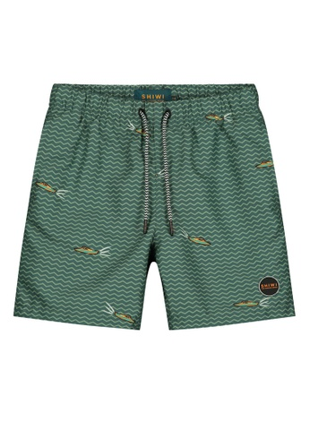 Shiwi green Boys Printed Swim Shorts 8C91BKAB58DB9DGS_1