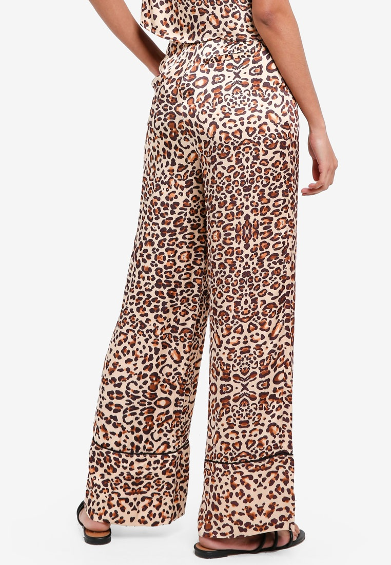 TOPSHOP Animal Brown TOPSHOP Print Animal Animal Print Print Brown Trousers TOPSHOP Trousers Cnw57x0
