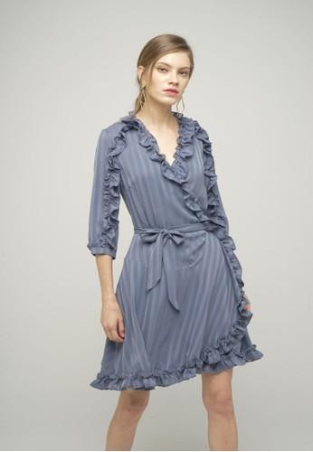 Megane blue RED ROMANCE Amarante Ruffle Hem Wrap Dress F11A0AAB7F0AF5GS_1