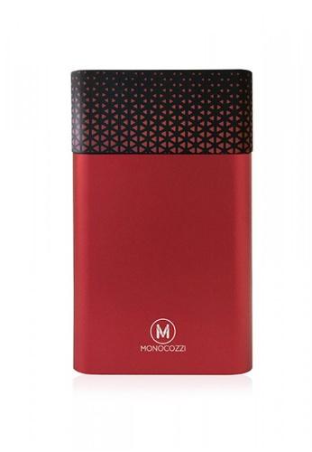 Monocozzi red MOTIF - ALUMINIUM DUAL OUTPUT 10050MAH POWERBANK - RED 31037AC865BE1CGS_1