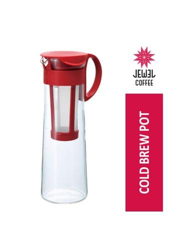 Jewel Coffee red Hario MIZUDASHI (Cold Brew) Coffee Pot 14 / RED (MCPN-14-V) 8CC9BHL1B1C7ECGS_1