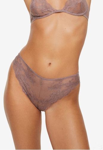 Mango purple Lace Panties DDBE8US8734291GS_1