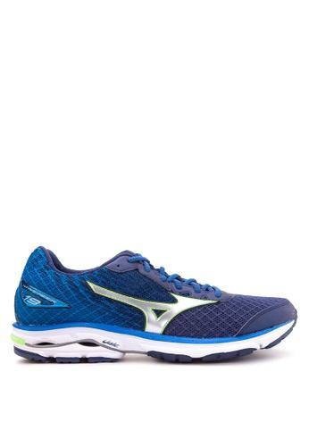 Mizuno blue Wave Rider 19 Running Shoes MI197SH48CLZPH_1