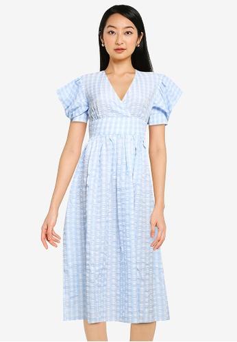 ZALORA BASICS multi Puff Sleeve Flare Dress EC09DAA8CA331CGS_1