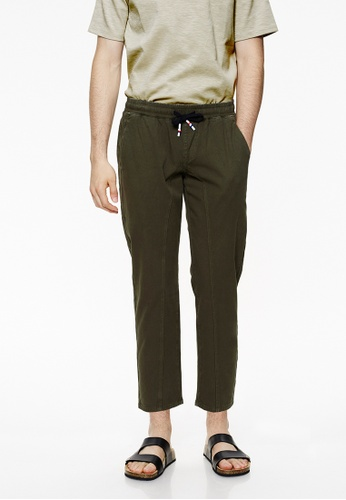 Life8 green Straight Fit Cropped Trouser-02431-Green LI283AA0GNP2SG_1