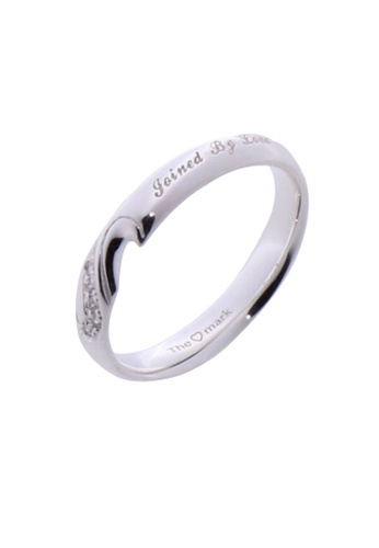 The LoveMark silver Joined by Love Ring with Artificial Diamonds for Men lr0003m TH516AC88VDZPH_1