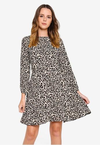 75e6c5c560 Buy Dorothy Perkins Animal Print Belted Midi Dress Online on ZALORA ...