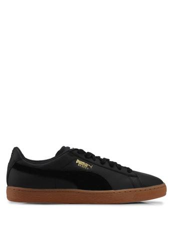 Puma black Basket Classic Gum Deluxe Shoes PU549SH0SWEBMY_1