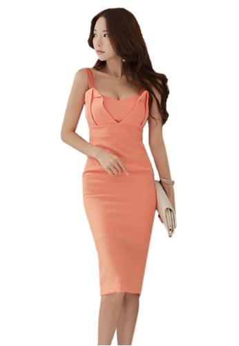 Sunnydaysweety orange 2017 Summer Sleeveless Dress UA071106 SU219AA46QOJSG_1
