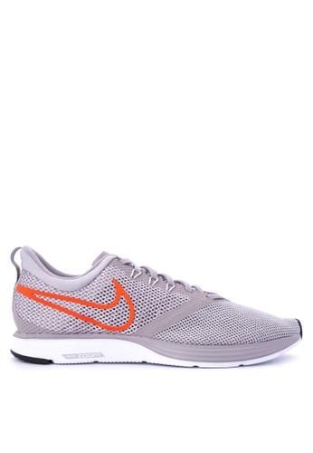 Nike grey Men's Nike Zoom Strike Running Shoes NI126SH0KPYHPH_1