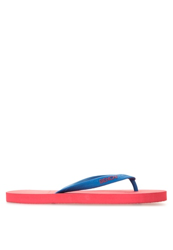 BENCH red Basic Rubber Slippers BE550SH97LTYPH_1