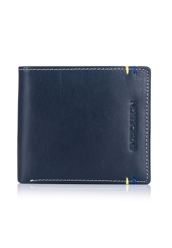 ENZODESIGN brown and multi and navy Two Tone 14 Card Slots Italian Leather Bi-fold Wallet EN357AC0FP6ZSG_1