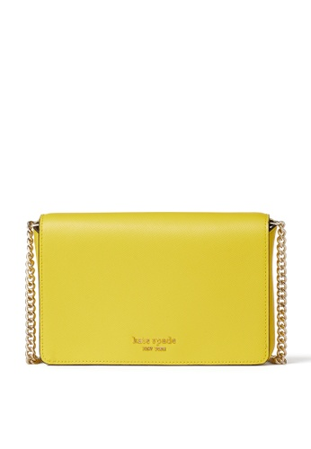 kate spade new york yellow Leather Chain Wallet 459C1ACDB99AD7GS_1
