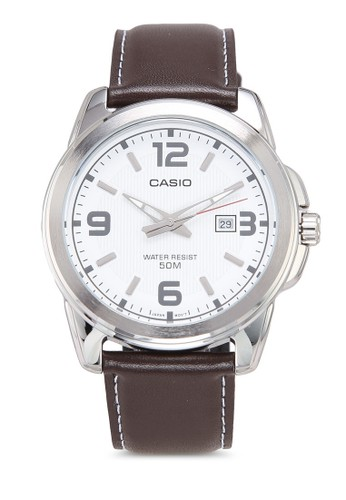 Casio brown Casio Jam Tangan Pria - Brown Silver White - Leather Strap - MTP-1314L-7AVDF 8315EAC95D2863GS_1