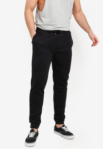 River Island black Black Basic Joggers Pants A4E80AA4023584GS_1