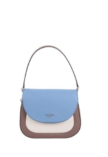 Kate Spade blue Kate Spade Medium Leila WKR00315 Flap Shoulder Bag In Baltic Sea Multi 70535AC591A61DGS_1