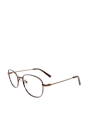 ASLLY brown Classic Artist│Anti-Blue light glasses with copper detailed frame 49F35GL8718C9CGS_1