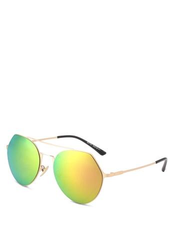 Dandelion gold Frameless Geometric Metal Sunglasses DA944GL0SO6TMY_1
