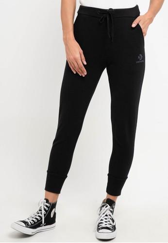 Converse black Womens Embroidered Star Chevron Jogger pants 64B5BAAECD7DECGS_1