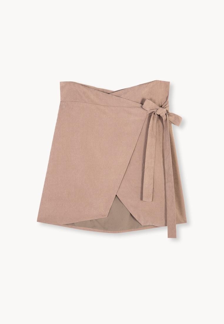 3e5238f0feb1 Devin Mini Skirt Suede Pink Faux Wrap Pomelo nUxAqT4n-klausecares.com