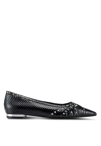 Dune London 黑色 鉚釘平底鞋 5E4FASH3E5613BGS_1