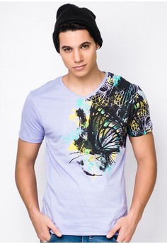 V Neck Graphic Shirt
