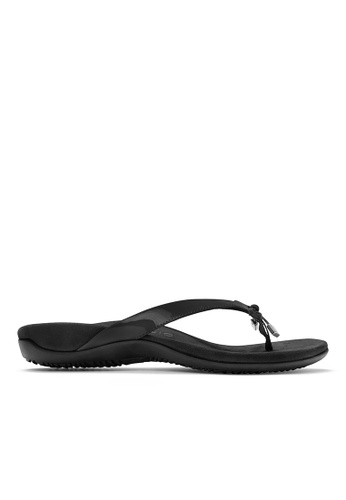 Vionic black Bella Toe Post Sandal 90162SH7EB8697GS_1
