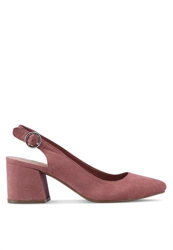 Dorothy Perkins pink Pink Eddy Slingback Block Heels 98BA8SH1314453GS_1