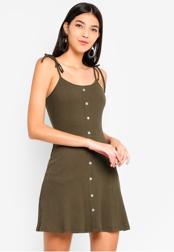 ZALORA green Knit Cami Dress 02547AA090AAEEGS_1